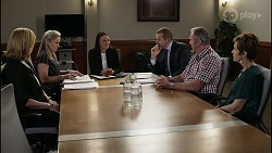 Claudia Watkins, Samantha Fitzgerald, Lydia Rollands, Toadie Rebecchi, Karl Kennedy, Susan Kennedy in Neighbours Episode 8351