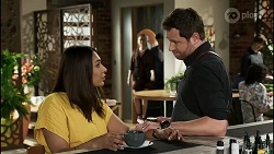 Dipi Rebecchi, Chloe Brennan, Pierce Greyson, Shane Rebecchi in Neighbours Episode 8353