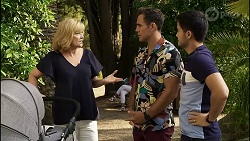 Claudia Watkins, Aaron Brennan, David Tanaka in Neighbours Episode 8353