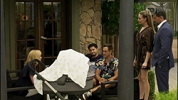 Claudia Watkins, David Tanaka, Aaron Brennan, Chloe Brennan, Pierce Greyson in Neighbours Episode 8353