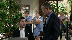 Ned Willis, Hendrix Greyson, Harlow Robinson, Paul Robinson in Neighbours Episode 8354