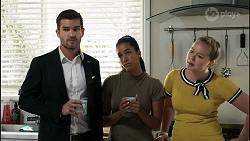 Ned Willis, Yashvi Rebecchi, Harlow Robinson in Neighbours Episode 8355