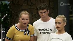 Harlow Robinson, Hendrix Greyson, Roxy Willis in Neighbours Episode 8355