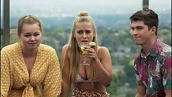 Harlow Robinson, Roxy Willis, Hendrix Greyson in Neighbours Episode 8355