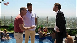 Paul Robinson, Pierce Greyson, Ned Willis in Neighbours Episode 8355