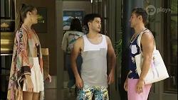 Chloe Brennan, David Tanaka, Aaron Brennan in Neighbours Episode 8356