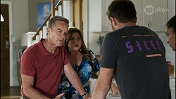 Paul Robinson, Terese Willis, Ned Willis, Yashvi Rebecchi in Neighbours Episode 8356
