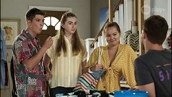 Hendrix Greyson, Mackenzie Hargreaves, Harlow Robinson, Ned Willis in Neighbours Episode 8356