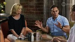 Claudia Watkins, Aaron Brennan, Chloe Brennan in Neighbours Episode 8356