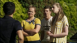 David Tanaka, Harlow Robinson, Hendrix Greyson, Mackenzie Hargreaves in Neighbours Episode 8356
