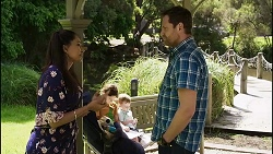 Dipi Rebecchi, Nell Rebecchi, Hugo Somers, Shane Rebecchi in Neighbours Episode 8357