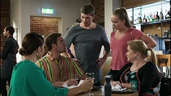 Naomi Canning, Kyle Canning, Hendrix Greyson, Harlow Robinson, Sheila Canning in Neighbours Episode 8359