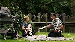 Claudia Watkins, Aster Conway, Aaron Brennan in Neighbours Episode 8359