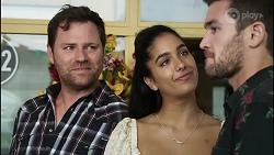 Shane Rebecchi, Yashvi Rebecchi, Ned Willis in Neighbours Episode 8360