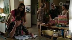 Shane Rebecchi, Dipi Rebecchi, Mackenzie Hargreaves, Ned Willis, Yashvi Rebecchi in Neighbours Episode 8360