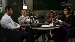 Pierce Greyson, Paul Robinson, Terese Willis, Naomi Canning in Neighbours Episode 8362