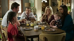 Nell Rebecchi, Shane Rebecchi, Toadie Rebecchi, Dee Bliss, Hugo Somers, Dipi Rebecchi in Neighbours Episode 8362
