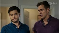 David Tanaka, Aaron Brennan in Neighbours Episode 8363