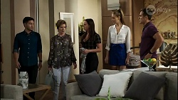 David Tanaka, Susan Kennedy, Bea Nilsson, Chloe Brennan, Aaron Brennan in Neighbours Episode 8363