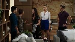 David Tanaka, Susan Kennedy, Bea Nilsson, Chloe Brennan, Aaron Brennan in Neighbours Episode 8364