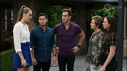 Chloe Brennan, David Tanaka, Aaron Brennan, Susan Kennedy, Bea Nilsson in Neighbours Episode 8364