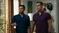 David Tanaka, Aaron Brennan in Neighbours Episode 8365