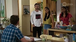 Shane Rebecchi, Ned Willis, Yashvi Rebecchi, Dipi Rebecchi in Neighbours Episode 8367