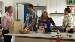 Clive Gibbons, Kyle Canning, Sheila Canning, Naomi Canning in Neighbours Episode 8367