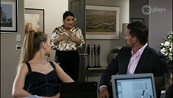 Chloe Brennan, Naomi Canning, Pierce Greyson in Neighbours Episode 8367