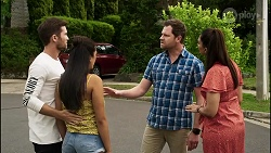 Ned Willis, Yashvi Rebecchi, Shane Rebecchi, Dipi Rebecchi in Neighbours Episode 8367