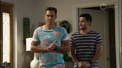 Aaron Brennan, David Tanaka in Neighbours Episode 8368