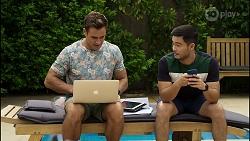 Aaron Brennan, David Tanaka in Neighbours Episode 8371