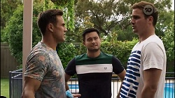 Aaron Brennan, David Tanaka, Kyle Canning in Neighbours Episode 8371