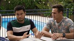 David Tanaka, Aaron Brennan in Neighbours Episode 8371