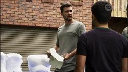 Ned Willis, David Tanaka, Aaron Brennan in Neighbours Episode 8372