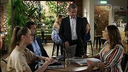 Chloe Brennan, Pierce Greyson, Paul Robinson, Naomi Canning in Neighbours Episode 8372