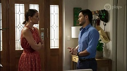 Elly Conway, David Tanaka in Neighbours Episode 8372