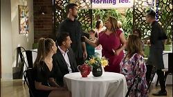 Chloe Brennan, Pierce Greyson, Ned Willis, Terese Willis, Naomi Canning in Neighbours Episode 8373