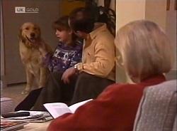 Holly, Hannah Martin, Philip Martin, Helen Daniels in Neighbours Episode 2207