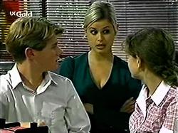 Lance Wilkinson, Joanna Hartman, Hannah Martin in Neighbours Episode 2809