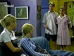 Lance Wilkinson, Hannah Martin, Joanna Hartman, Lisa Elliot in Neighbours Episode 2810