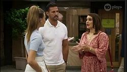 Chloe Brennan, Pierce Greyson, Naomi Canning in Neighbours Episode 8374