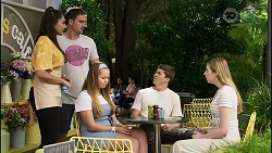 Dipi Rebecchi, Kyle Canning, Harlow Robinson, Hendrix Greyson, Mackenzie Hargreaves in Neighbours Episode 8374