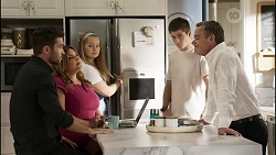 Ned Willis, Terese Willis, Harlow Robinson, Hendrix Greyson, Paul Robinson in Neighbours Episode 8374