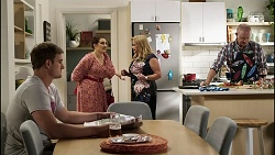 Kyle Canning, Naomi Canning, Sheila Canning, Clive Gibbons in Neighbours Episode 8375