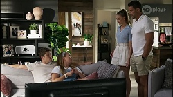 Hendrix Greyson, Harlow Robinson, Chloe Brennan, Pierce Greyson in Neighbours Episode 8375