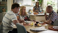 Kyle Canning, Sheila Canning, Naomi Canning, Clive Gibbons in Neighbours Episode 8375