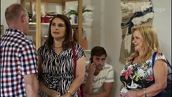 Clive Gibbons, Naomi Canning, Kyle Canning, Sheila Canning in Neighbours Episode 8375