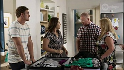 Kyle Canning, Naomi Canning, Clive Gibbons, Sheila Canning in Neighbours Episode 8375