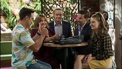Aaron Brennan, Terese Willis, Paul Robinson, Pierce Greyson, Chloe Brennan in Neighbours Episode 8376